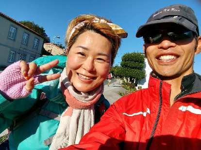 I encountered this Korean woman named Jane along the Camino several times on this particular morning.
