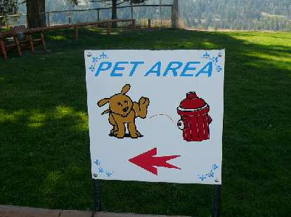 Funny sign during a pit stop on the way to Penticton, BC.