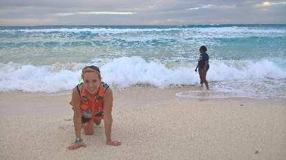 Jana Anderson, crawling on beach, Pauline Asher
