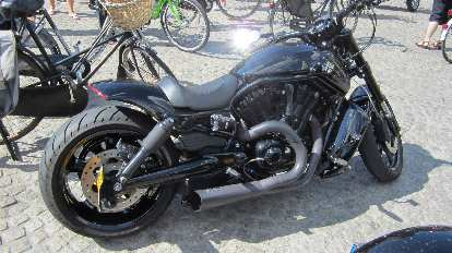A Harley Davidson in Amsterdam.