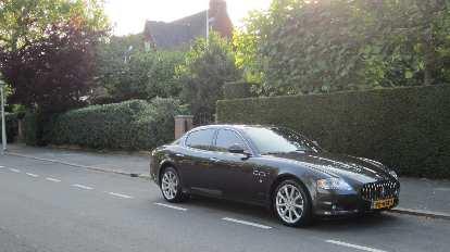A Maserati Quattroporte near Beatrixpark in Amsterdam.