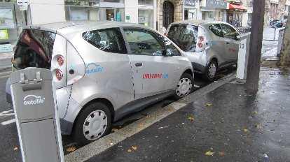 Autolib city cars, designed by Pininfarina, in Paris.