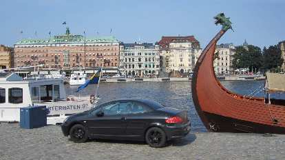 A Renault Megane convertible in Stockholm.