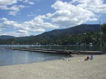 Hayden Lake in Hayden is only a few miles away.  This is the only public beach for Hayden Lake.