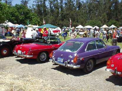 Back to the cars.  There were mostly MGBs, including Dan Shockey's violet MGB/GT.
