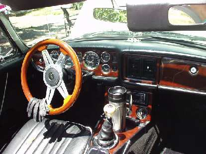 The same MGB also had some nice custom woordwork installed.