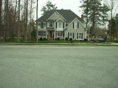There were also newer homes like this one.