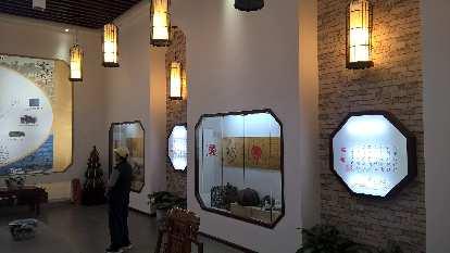 Inside the tea house in Xiamen.