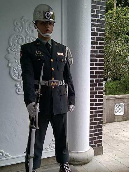 A guard at the Cihu Mausoleum.