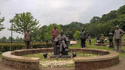 Statues at the Cihu Memorial Statue Park of Chiang Kai-shek.