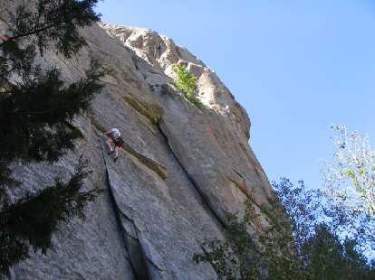 Tori now goes up the 5.10a.