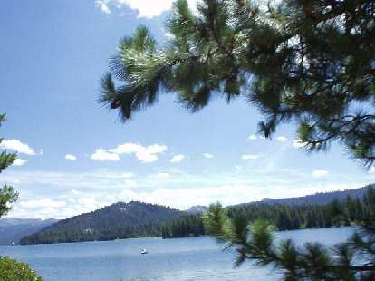[Mile 66, 12:01 a.m.] Finally, a little bit of a reprieve: passing by picturesque Huntington Lake, which is where the lunch stop was at.