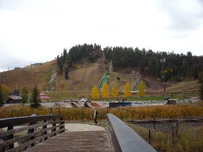 The Olympic ski jump in Steamboat Springs.