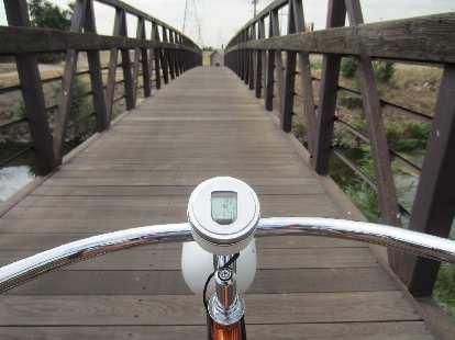 [Day 1, Mile 62, 11:04 a.m.] Bridge on the Platte River Trail.