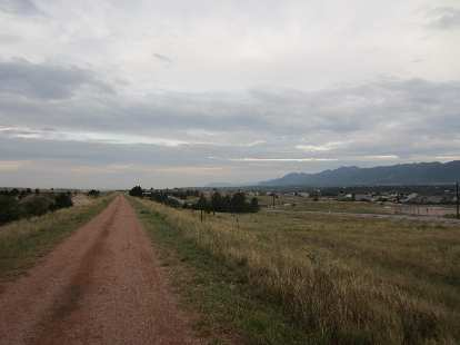 [Day 1, Mile 128, 6:45 p.m.] The New Santa Fe Trail was a bit sandy but smooth.