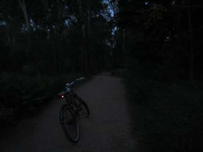 [Day 1, Mile 143, 8:06 p.m.] Getting dark on the New Santa Fe Trail.