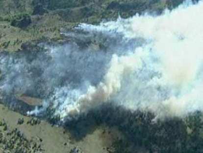 Smoke from the Stuart Hole Fire near Wyoming.
