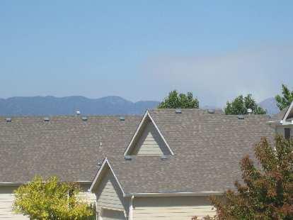 Smoke from the Hewlett Gulch fire.