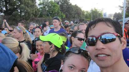 Felix Wong, start of the 2015 Colfax Half Marathon
