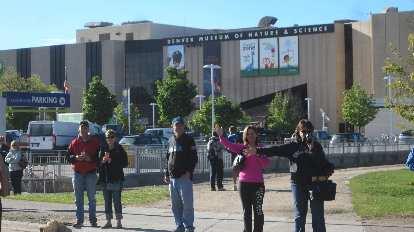 Denver Museum of Nature and Science; spectators for the 2015 Colfax Half Marathon