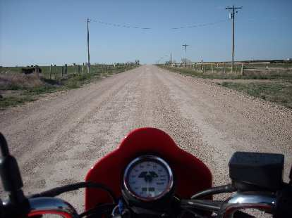 On a gravel road to the Hamilton Wildlife Area in Kansas (just east of the Colorado border).