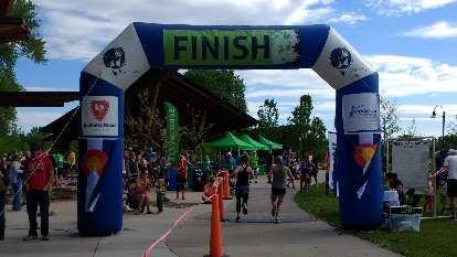 The finish line of the Colorado Run.