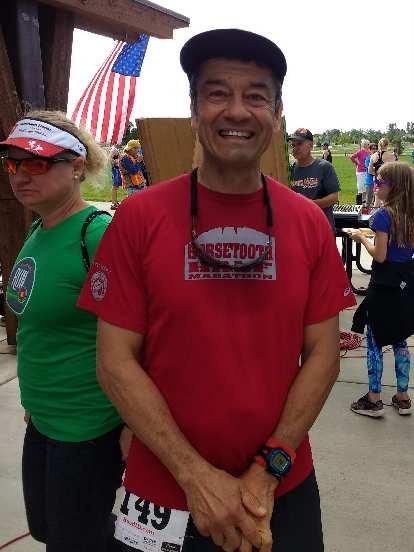 My friends Melody and Alex post Colorado Run.