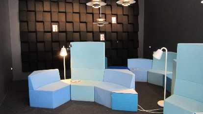 Inside the Danish Design Centre.
