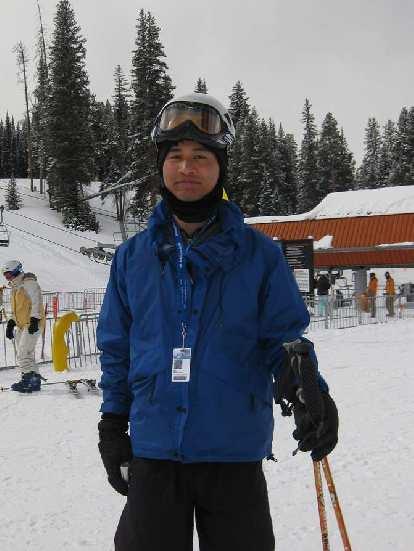 Felix Wong eager to ski at Copper Mountain.