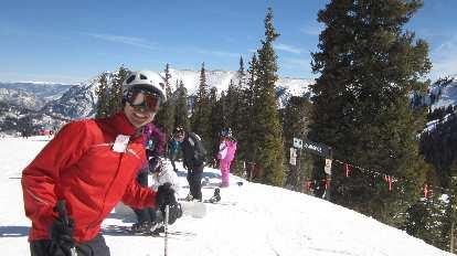 Felix Wong on skis.