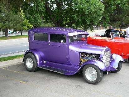 Purple hot rod.