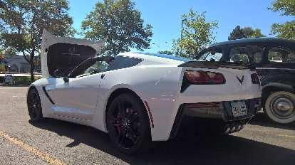 A white C7 Corvette.