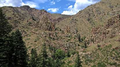 The Palace in the Poudre Canyon, as viewed from Crystal Wall.