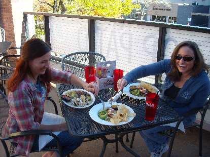 Tori and Raquel, a.k.a. food thieves.