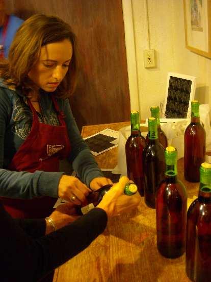 Raquel being industrious.