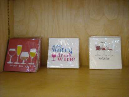 More party napkins at Vintages.