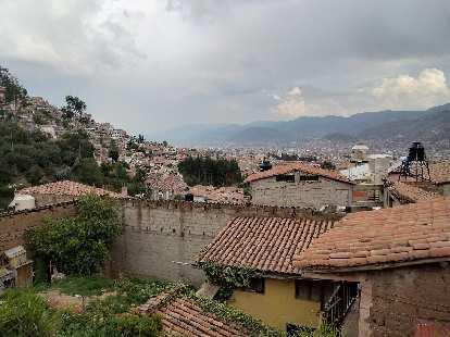 Tile rooftops in Cusco.
