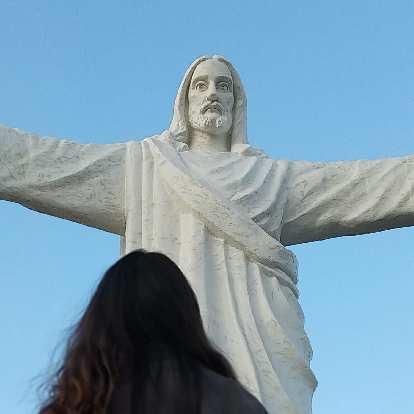 Cristo Blanco (White Christ) statue in Cusco, Peru.