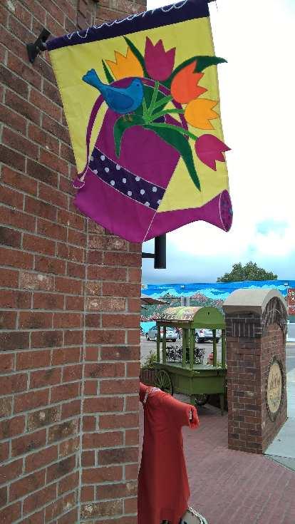 purple watering jug sign, wall mural, Custer, South Dakoka