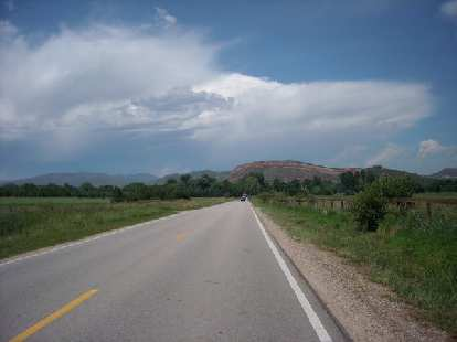 Towards the red rock in Bellvue just north of Bingham Hill.