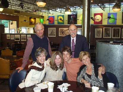 We met with some of Dan's family and friends at George's Garage (a diner) the next day.