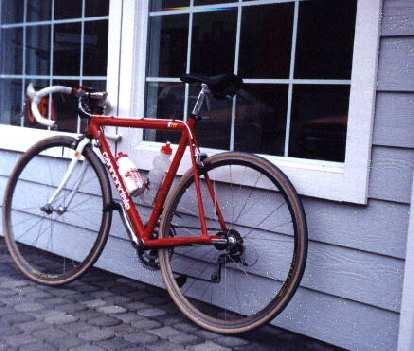 red Cannondale 3.0, 1999 Davis 200k Brevet.