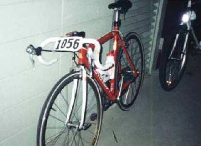 red Cannondale 3.0, 1997 Davis Double Century