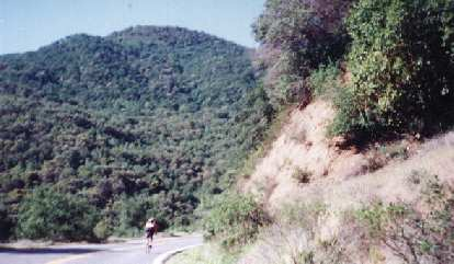 Following Daniel Lieb through some rolling hills of the 1999 Davis Double Century.