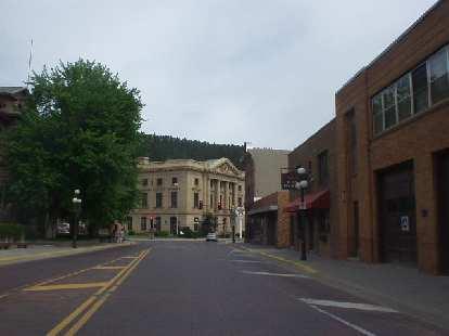 Approaching Main Street in Deadwood.