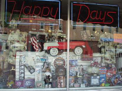 """At least there was this """"Happy Days"""" store."""