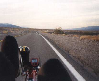 riding a recumbent bicycle, 2000 Death Valley Double Century