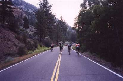 The first half of the ride was entirely closed to automobiles, so cyclists ruled the road!