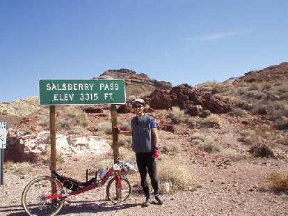 Mile 62, 11:11 a.m.: Made it to the top of Salsberry Pass!  It was long, and it took me about 2 hours to go up Jubilee + Salsberry, but I was quite a bit faster than in 2000.