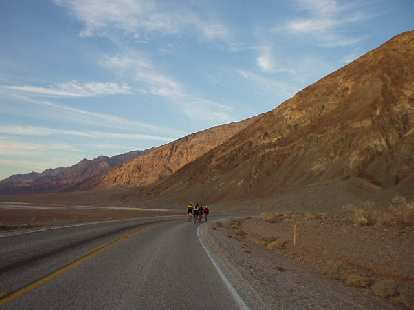 Mile 127, 4:16 a.m.: Returning to Badwater, the lowest point in the contiguous United States, not feeling very strong anymore. :/